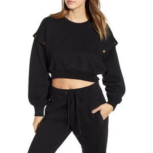 IVY PARK Armour Poppers Crop Sweatshirt NWT